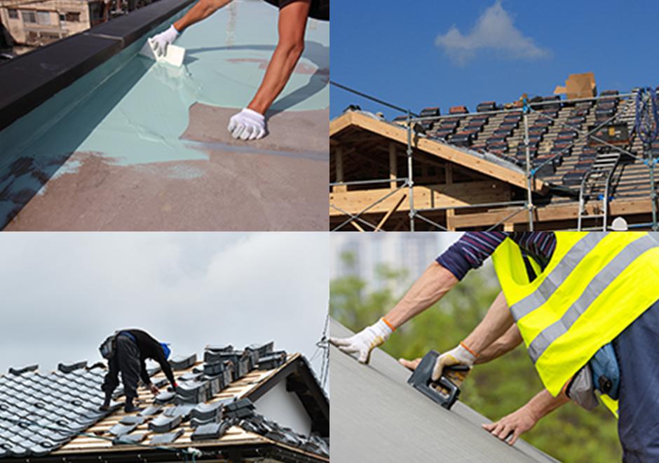 屋根工事の開始